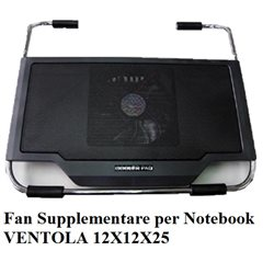 Fan Supplementare per Notebook VENTOLA 12X12X25