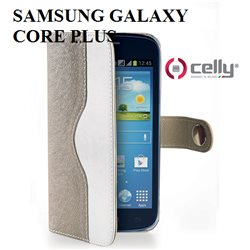SM-G350 Samsung Galaxy CORE PLUS CELLY custodia Wally Onda a libro Nero