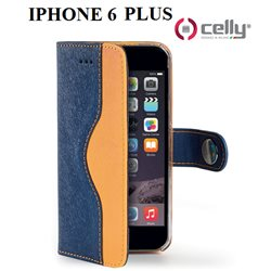 Apple Iphone 6 custodia CELLY wally onda in ecopelle con doppio colore