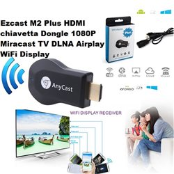 Ezcast M2 Plus HDMI chiavetta Dongle 1080P Miracast TV DLNA Airplay WiFi Display