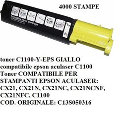 toner C1100-Y-EPS GIALLO compatibile epson aculaser C1100 4000 stampe