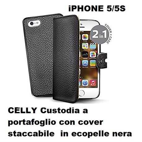 Cover custodia portafogli in similpelle per Apple iPhone SE con