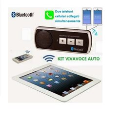 KIT VIVAVOCE BLUETOOTH V3.0 AUTO MULTIPOINT UNIVERSALE SMARTPHONE TABLET