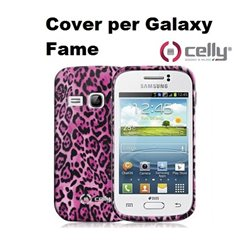 Cover per Galaxy Fame in morbido e avvolgente TPU anti-shock rosa con texture animalier