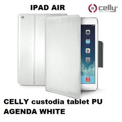 CELLY custodia tablet PU AGENDA WHITE per IPAD AIR