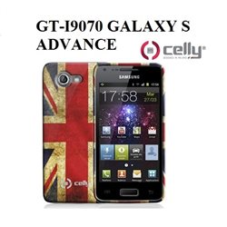 GT-I9070 GALAXY S ADVANCE Cover vintage UK in morbido e avvolgente TPU + SCREEN PROTECTOR