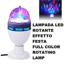 LAMPADA LED ROTANTE EFFETTO FESTA - FULL COLOR ROTATING LAMP