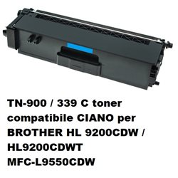 TN-900 / 339 C toner compatibile CIANO per BROTHER HL 9200CDW / HL9200CDWT MFC-L9550CDW