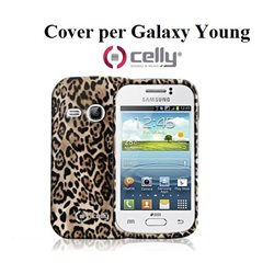 GALAXY YOUNG Cover per Smartphone Celly marrone texture alimalier TPU