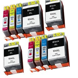 multipack 10 cartucce compatibili HP 934XL / 935XL per HP Officejet Pro 6830 , Officejet Pro 6230