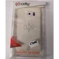 CELLY COVER S6 EDGE BIANCO