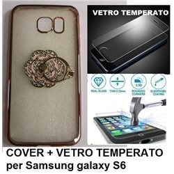 COVER + VETRO TEMPERATO Samsung Galaxy S6