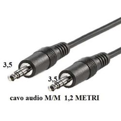 CAVO AUDIO JACK 3.5MM M/M 1,2MT IN BLISTER